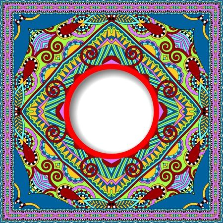 tapis: floral round pattern in ukrainian oriental ethnic style
