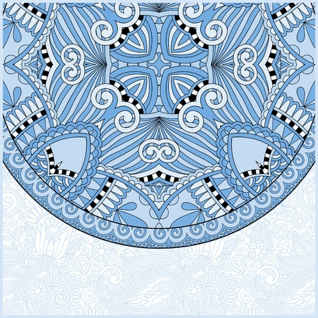 kaleidoscopic: blue colour ornamental floral template with circle ethnic dish element, mandala design, kaleidoscopic floral pattern