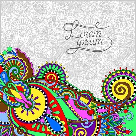 paper packing: dise�o de Paisley en el fondo decorativo floral para la invitaci�n, papel de embalaje, de libro, p�gina web y otra decoraci�n, ilustraci�n vectorial Vectores