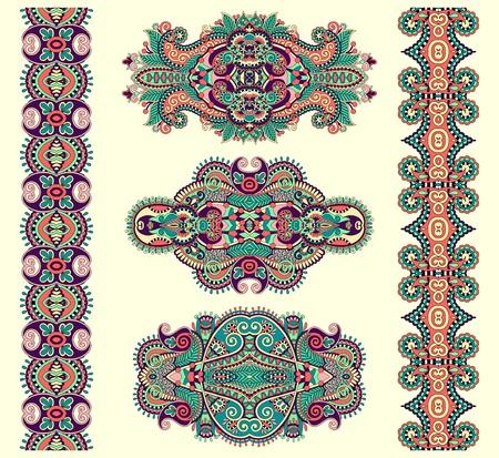 adornment: ornamentale decorativo floreale etnico ornamento, illustrazione vettoriale Vettoriali