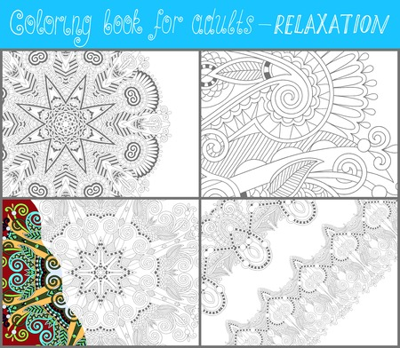 colour pencil: unique coloring book page for adults - flower paisley design, joy to older children and adult colorists, who like line art and creation, vector illustration