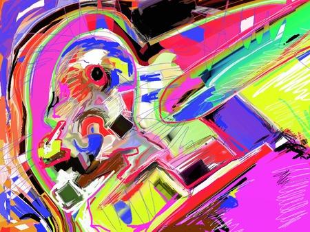 digital art: original illustration of abstract art digital painting