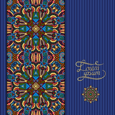 ultramarine: floral geometric background, vintage ornamental design template for card, book, postcard, ethnic style invitation and greeting card, beautiful retro brochure, geometric background in ultramarine color