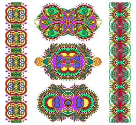 adornment: ornamentali etnico decorativo ornamenti floreali, illustrazione vettoriale