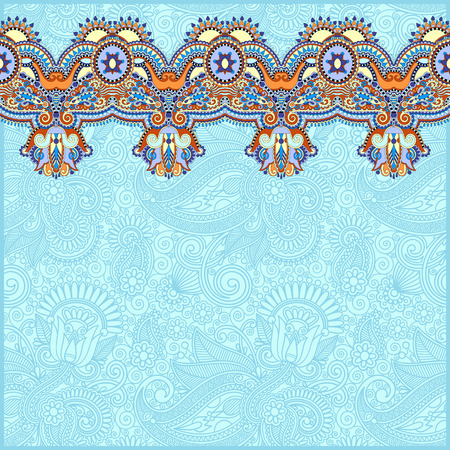 stripe pattern: sfondo ornamentale con nastro fiore, motivo a strisce, biglietto di auguri, illustrazione vettoriale in colore blu