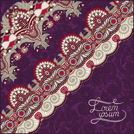 stripe pattern: sfondo ornamentale con nastro fiore, motivo a strisce, biglietto di auguri, illustrazione vettoriale su sfondo viola
