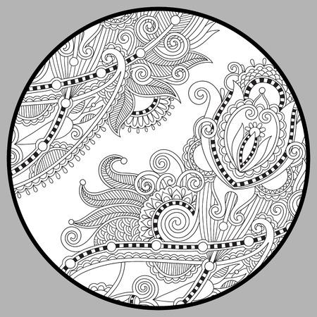 gente adulta: página para colorear libro para adultos - Zendala, alegría para los niños mayores y adultos coloristas, que como la creación de la línea de arte, relajarse y meditar, ilustración vectorial