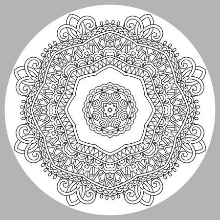 markers: coloring book page for adults - zendala, joy to older children and adult colorists, who like line art creation, relax and meditation, vector illustration