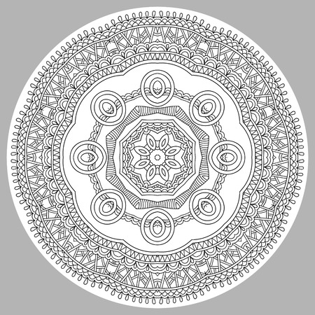color pages: coloring book page for adults - zendala, joy to older children and adult colorists, who like line art creation, relax and meditation, vector illustration