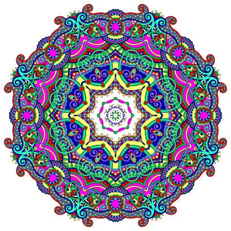 mandala: mandala, circle decorative spiritual indian symbol of lotus flower, round ornament pattern, vector illustration