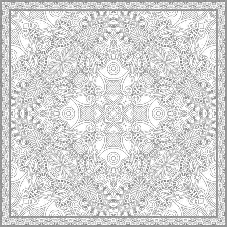 Einzigartige Malbuch Quadrat Seite Für Erwachsene - Blumenteppich ...