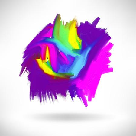 acrylic painting: abstract acrylic painting design element, handmade vector illustration Illustration