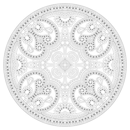 mandala: coloring book page for adults - zendala, joy to older children and adult colorists, who like line art creation, relax and meditation, vector illustration