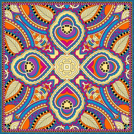robo: bufanda de seda o de patr�n de dise�o cuadrado pa�uelo en estilo ucraniano para imprimir sobre tela, ilustraci�n vectorial Vectores