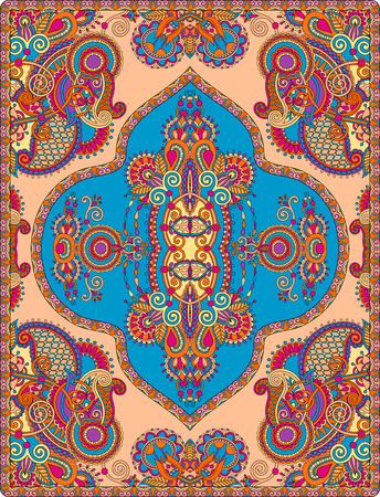 elaborate: elaborate original floral large area carpet design for print on canvas or paper, ukrainian traditional style, vector illustration