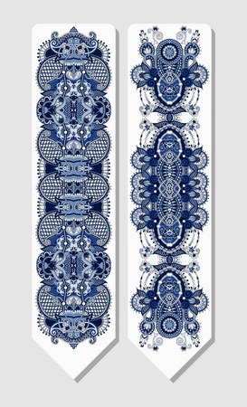 ethno: floral decorative ethnic paisley bookmark for printing, vector illustration