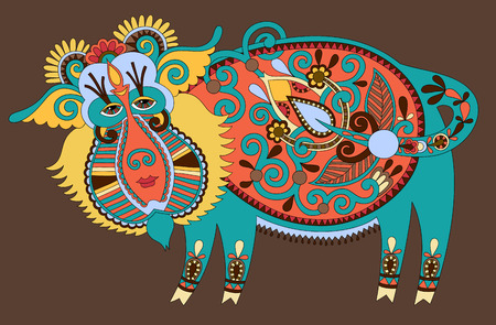 ukrainian traditional: unusual Ukrainian traditional tribal art in karakoko style