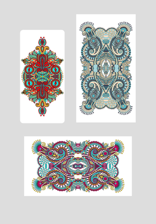 ethnic floral template layout specially for sublimation printing on mobile phone covers in A4 format paper, vector illustration