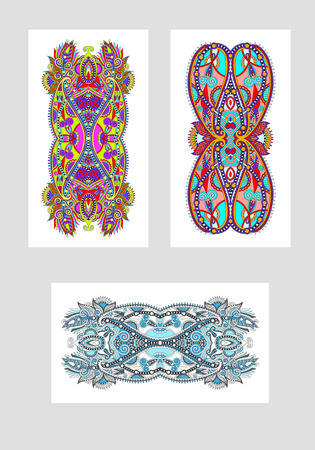 sublimation: ethnic floral template layout specially for sublimation printing on mobile phone covers in A4 format paper, vector illustration
