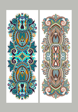 arabesque pattern: Two composition template layout specially for sublimation printing on standard mug in A4 format paper, ethnic floral pattern, vector illustration