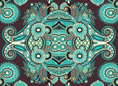 authentic: ethnic horizontal  authentic decorative paisley pattern  for your design, geometric ukrainian carpet ornamental background, vector illustration