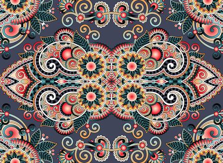 arabesque pattern: ethnic horizontal authentic decorative paisley pattern for your design, geometric ukrainian carpet ornamental background