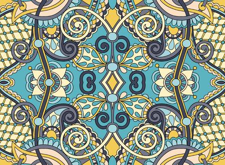 east: ethnic horizontal authentic decorative paisley pattern for your design, geometric ukrainian carpet ornamental background