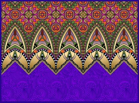 batik: motif ethnique horizontal authentique d�coratif paisley pour votre conception, g�om�trique tapis ukrainian fond ornemental, illustration vectorielle