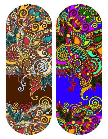 Paisley ornemental motif floral ethnique pour bracelet, motif à rayures pour l'impression ou le ruban vecteur de broderie illustration Banque d'images - 51577811