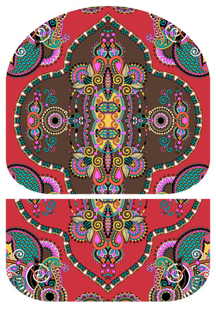 pochette: pattern of purse money design, you can print on fabric to do some sewing a wallet or handbag, vector illustration