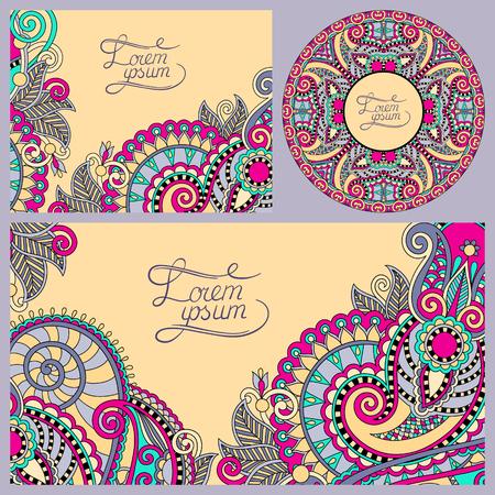 decorative background: set of floral decorative background, template frame design for card, brochure, book, business card, postcard, wedding invitation, banner, CD design, vector illustration
