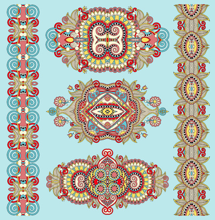 adornment: ornamental decorative ethnic floral adornment for your design, vector illustration