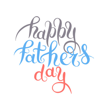 son of man: happy fathers day handwritten inscription design greeting card, vector illustration