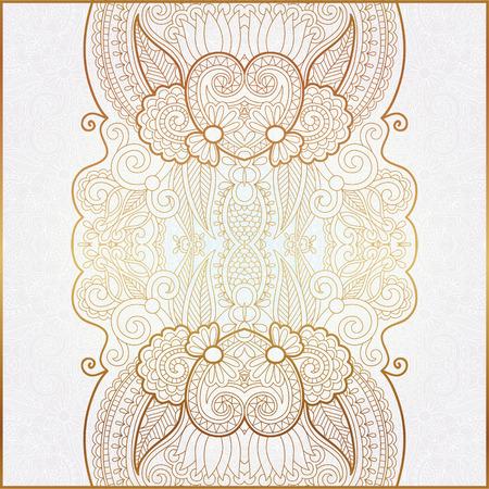 crown of light: elegant floral ornamental background, golden decor on light pattern, can be use for invitation, wedding, greeting card, cover, packing, vector illustration Illustration
