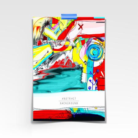 Oryginalne artystyczne streszczenie twórczy uniwersalny wzór, możesz użyć tej grafiki wydrukować wnętrze, strona dekoracji, opakowanie, plakat, karta, zaproszenie, plakat, broszura, ulotka, książka, obraz wektorowy