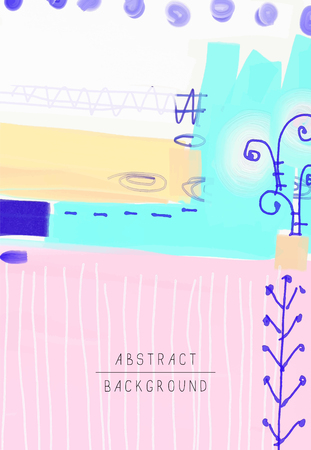 original artistic abstract creative universal design, you can use this artwork print in interior, page decoration, packing, poster, card, invitation, placard, brochure, flyer, book, vector image Illustration