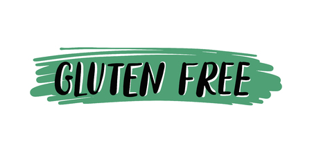 free illustration: gluten free hand written inscription on green, vector illustration
