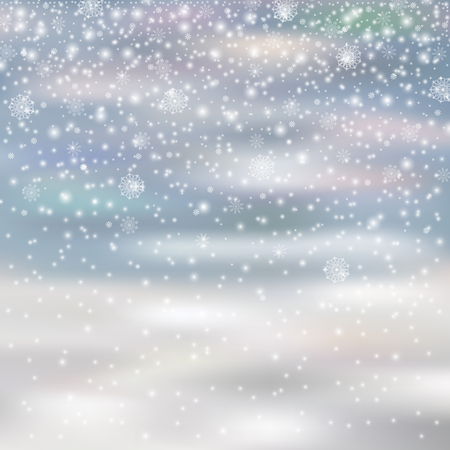 snowfalls: falling christmas decoration snow isolated on blured background, snowflakes, snowfall for your winter design, vector illustration eps 10