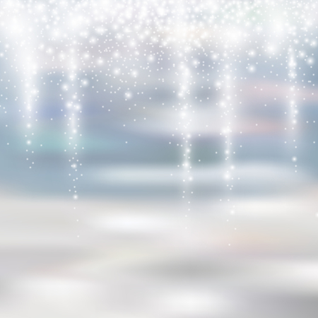 glittery: light silver and white christmas background with icicle snowfall glittery translucent for your winter design, vector illustration eps 10 Illustration