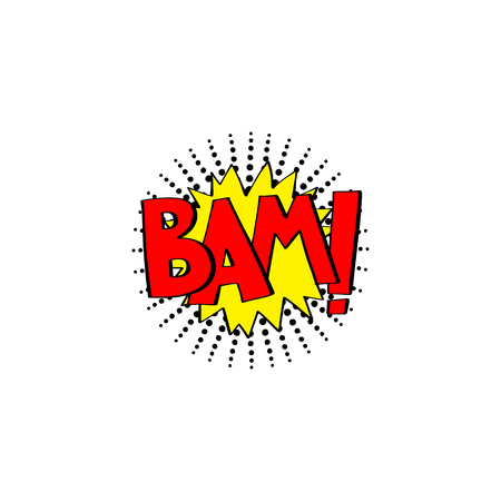 yum: multicolored comic sound effects in pop art style, bubble speech with word, vector illustration eps10