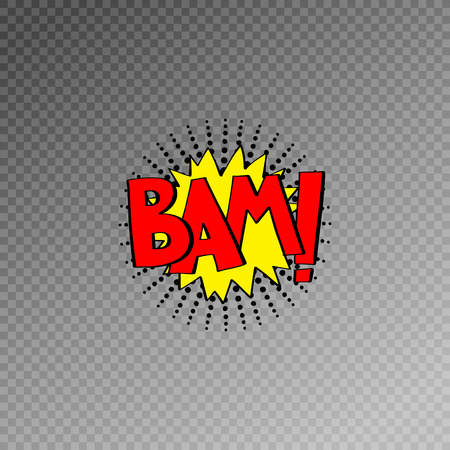 multicolored comic sound effects in pop art style, bubble speech with word, vector illustration eps10