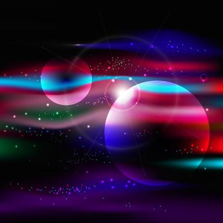 space background with stars nebula, milky way Illustration