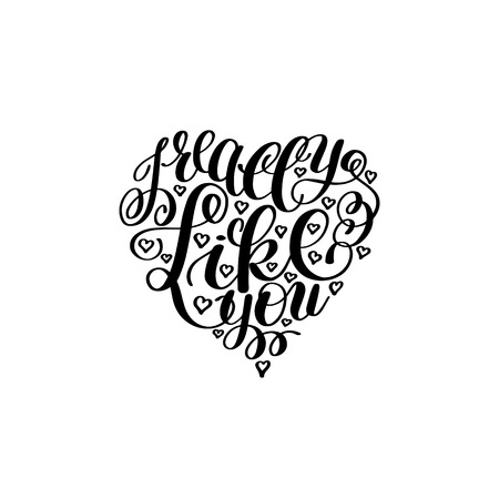 letras musicales: Realmente me gustas. Carta de amor en forma de corazón, texto Inglés Mano