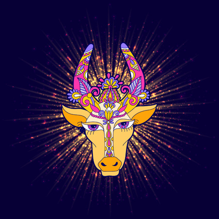 pongal floral shiny star with cow