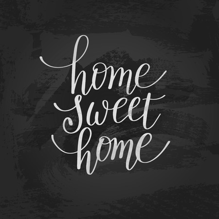desig: home sweet home handwritten calligraphy lettering quote to desig