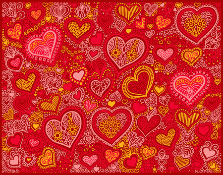 red shape: drawing heart shape background in red colors to valentines day