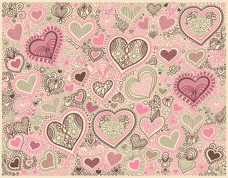 fond de forme de coeur aux couleurs pastel à la Saint Valentin