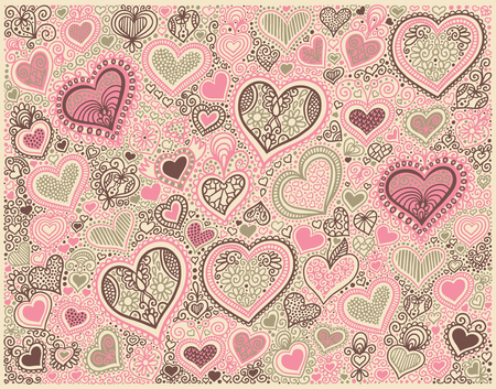 Fondo de forma de corazón en colores pastel a día de San Valentín
