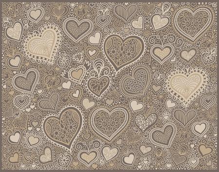 original hand drawing heart shape background