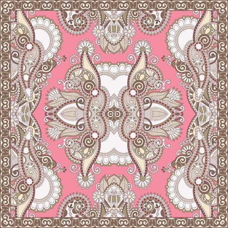 hanky: authentic silk neck scarf or kerchief square pattern design in u